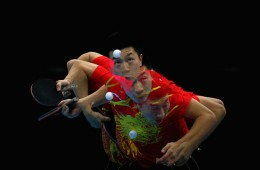 Lightning Fast!: China's Table Tennis players are too fast to freeze in a photo