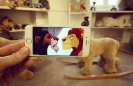 Man uses his iPhone to insert pop culture characters in real life