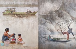 Aspects of Burma: Painted-like Photographs Showing Burma's Life