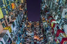 Living Space: Lego-liked Buildings Sit in the Typical Hong Kong Street