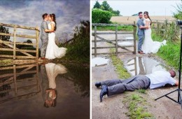 Behind-the-scenes shots reveal the secret of capturing the perfect wedding photo