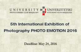 5th International Exhibition of Photography PHOTO EMOTION 2016